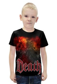 """Футболка с полной запечаткой для мальчиков """"Death Art"""" - skull, череп, death, смерть, меч"""