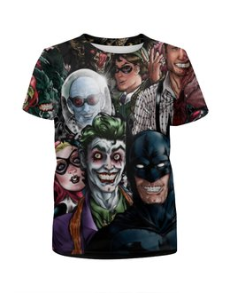 """Футболка с полной запечаткой для мальчиков """"Batman (Бэтмен)"""" - joker, харли квинн"""