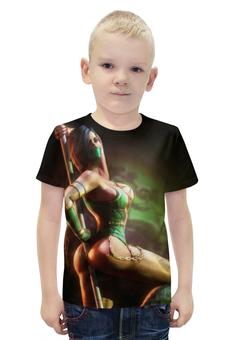 """Футболка с полной запечаткой для мальчиков """"Mortal Kombat"""" - игры, mortal kombat, смертельная битва, джейд"""