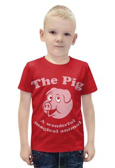"""Футболка с полной запечаткой для мальчиков """"The Pig"""" - свинка"""