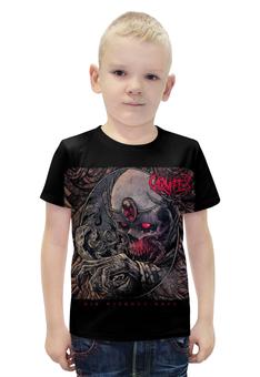 """Футболка с полной запечаткой для мальчиков """"Carnifex band"""" - skull, череп, death metal, рок музыка, carnifex"""