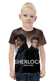 """Футболка с полной запечаткой для мальчиков """"шерлок (SHERLOCK)"""" - sherlock, шерлок, бенедикт камбербэтч"""