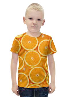 """Футболка с полной запечаткой для мальчиков """"ORANGE"""" - фрукты, orange, апельсин"""