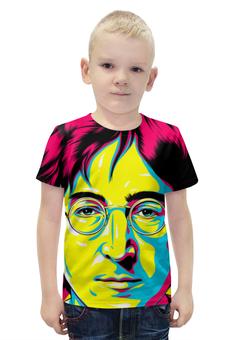 """Футболка с полной запечаткой для мальчиков """"Джон Леннон"""" - поп арт, рисунок, джон леннон"""
