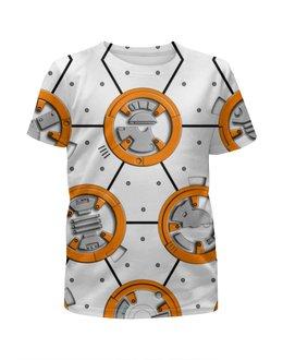 """Футболка с полной запечаткой для мальчиков """"Star Wars Design (BB8)"""" - фантастика, сыну, звездные войны, дроид, киноманам"""