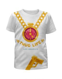 """Футболка с полной запечаткой для мальчиков """"Thug Life (Los Angeles)"""" - rap, hip-hop, бандит, громила"""