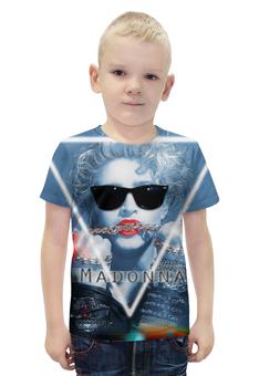 """Футболка с полной запечаткой для мальчиков """"Мадонна (Madonna)"""" - madonna, мадонна"""