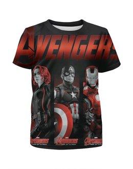 """Футболка с полной запечаткой для мальчиков """"Avengers Age of Ultron"""" - комиксы, супергерои, мстители, марвел"""
