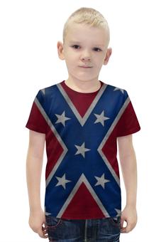 """Футболка с полной запечаткой для мальчиков """"Флаг Конфедерации США"""" - америка, usa, flag, confederation, флаг конфедерации"""