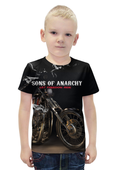 """Футболка с полной запечаткой для мальчиков """"Сыны Анархии"""" - сериалы, сыны анархии"""