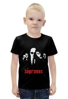 """Футболка с полной запечаткой для мальчиков """"Клан Сопрано (the Sopranos)"""" - клан сопрано, сопрано, sopranos, тони сопрано"""