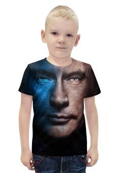 """Футболка с полной запечаткой для мальчиков """"Putin (Путин)"""" - россия, russia, путин, putin"""
