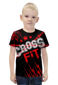 """Футболка с полной запечаткой для мальчиков """"КРОССФИТ"""" - gym, спортзал, crossfit, кроссфит, молнии"""