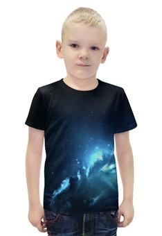 """Футболка с полной запечаткой для мальчиков """"The Spaceway"""" - космос, наука, прогресс, денис гесс, the spaceway"""
