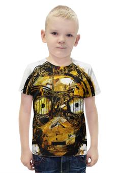 """Футболка с полной запечаткой для мальчиков """"C-3PO (Звездные Войны)"""" - голова, арт, star wars, робот, c-3po"""