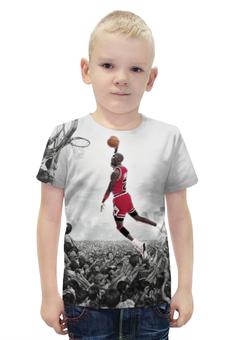 """Футболка с полной запечаткой для мальчиков """"Майкл Джордан (Michael Jordan)"""" - nba, нба, michael jordan, майкл джордан"""