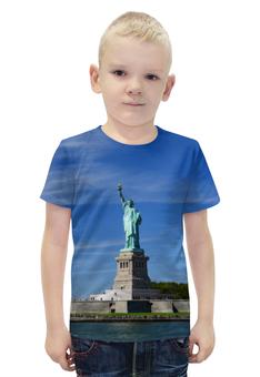 """Футболка с полной запечаткой для мальчиков """"Статуя Свободы"""" - нью-йорк, америка, статуя свободы"""
