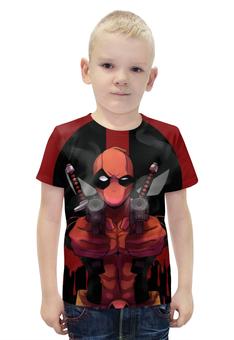 """Футболка с полной запечаткой для мальчиков """"Дэдпул / Deadpool"""" - рисунок, комиксы, кино, дэдпул"""