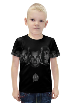 """Футболка с полной запечаткой для мальчиков """"Стартрек: Бесконечность / Star Trek Beyond"""" - рисунок, кино, фэнтези, стартрек"""
