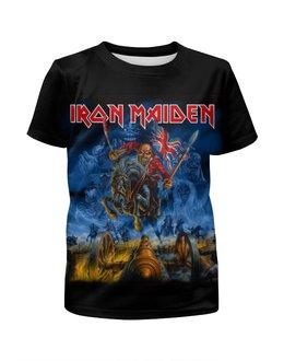 """Футболка с полной запечаткой для мальчиков """"Iron Maiden Band"""" - heavy metal, iron maiden, хэви метал, eddie, nwobhm"""