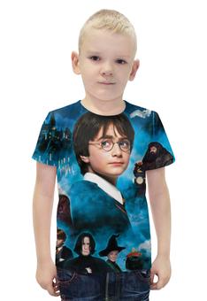 """Футболка с полной запечаткой для мальчиков """"Гарри Поттер"""" - harry potter, гарри поттер, приключения, волшебник, рэдклифф"""