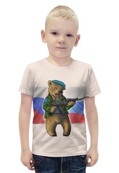 """Футболка с полной запечаткой для мальчиков """"Russian Bear"""" - bear, медведь, россия, russia, вдв"""