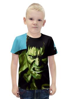 """Футболка с полной запечаткой для мальчиков """"Халк (Hulk)"""" - комиксы, marvel, марвел, железный человек, халк"""