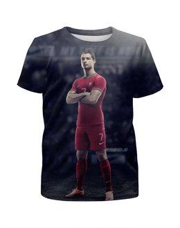 """Футболка с полной запечаткой для мальчиков """"Ronaldo"""" - футбол, real madrid, реал мадрид, криштиану роналду, португалия"""