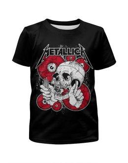 """Футболка с полной запечаткой для мальчиков """"Metallica"""" - рок, metallica, группы, метал, металлика"""