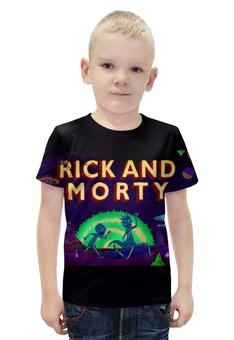 """Футболка с полной запечаткой для мальчиков """"Рик и Морти"""" - rick and morty"""