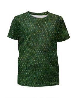 """Футболка с полной запечаткой для мальчиков """"Кожа Рептилии"""" - кожа, кожа змеи, leather, skin, кожа рептилии"""