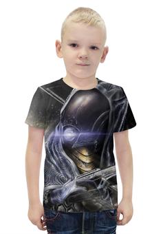 """Футболка с полной запечаткой для мальчиков """"Масс Эффект (Mass Effect)"""" - mass effect, масс эффект"""