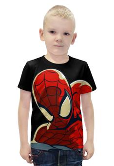 """Футболка с полной запечаткой для мальчиков """"ЧЕЛОВЕК ПАУК!!!"""" - комиксы, супергерой, spider man, человек паук, марвел"""