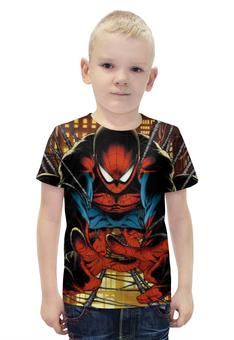 """Футболка с полной запечаткой для мальчиков """"Человек-паук"""" - человек-паук"""