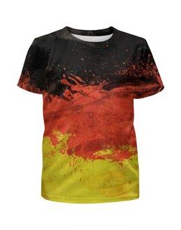 """Футболка с полной запечаткой для мальчиков """"Флаг Германии"""" - флаг, 3d, германия"""