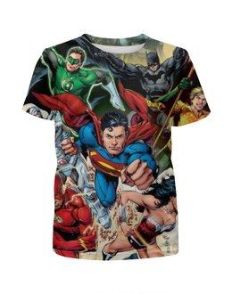 """Футболка с полной запечаткой для мальчиков """"Супергерои комиксов"""" - комиксы, герои, супергерои, superheroes"""