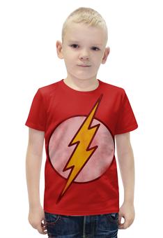"""Футболка с полной запечаткой для мальчиков """"Флэш (Flash)"""" - flash, комиксы, супергерои, флэш"""
