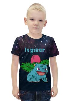 """Футболка с полной запечаткой для мальчиков """"Покемон Ивизавр"""" - pokemon, покемон, ivysaur, ивизавр"""