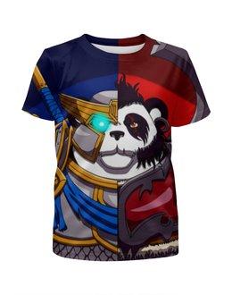 """Футболка с полной запечаткой для мальчиков """"Пандарен (Варкрафт)"""" - панда, panda, wow, warcraft"""