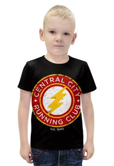 """Футболка с полной запечаткой для мальчиков """"Молния (The Flash)"""" - flash, молния, флэш"""