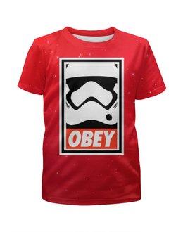"""Футболка с полной запечаткой для мальчиков """"Obey SatrWars"""" - darth vader, obey, звездные войны, starwars, дарт вейдер"""