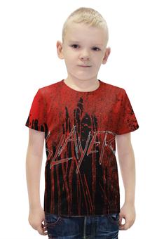 """Футболка с полной запечаткой для мальчиков """"Slayer 2012"""" - музыка, рок, металл, slayer, thrash metal"""