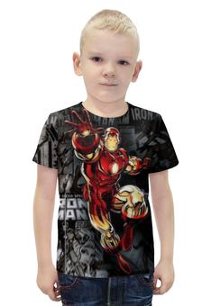 """Футболка с полной запечаткой для мальчиков """"Iron Man"""" - iron man"""