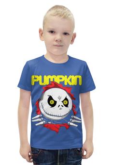 """Футболка с полной запечаткой для мальчиков """"Pumpkin """" - зомби, монстр"""