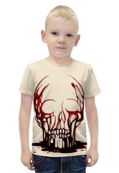 """Футболка с полной запечаткой для мальчиков """"Skull Art"""" - skull, череп, кровь, blood, artwork"""