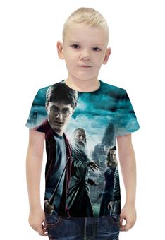 """Футболка с полной запечаткой для мальчиков """"Гарри Поттер"""" - harry potter, приключения, волшебник, рэдклифф"""