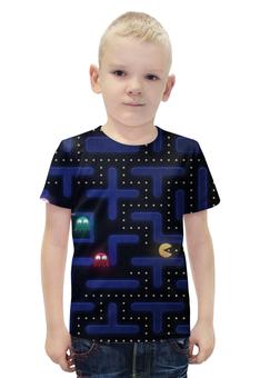 """Футболка с полной запечаткой для мальчиков """"Pacman"""" - pacman"""