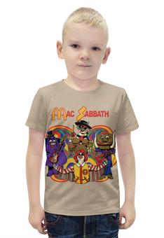 """Футболка с полной запечаткой для мальчиков """"Mac Sabbath/Black Sabbath"""" - прикол, heavy metal, макдональдс, mcdonalds, black sabbath"""