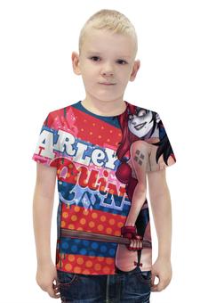 """Футболка с полной запечаткой для мальчиков """"Харли Квинн (Harley Quinn)"""" - харли квинн, harley quinn, dc comics"""