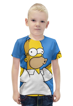 """Футболка с полной запечаткой для мальчиков """"гомер , симпсоны , The Simpsons , мультики"""" - мультики, гомер, симпсоны, the simpsons"""